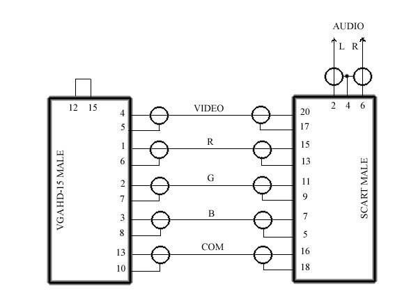 Схема соединительного кабеля